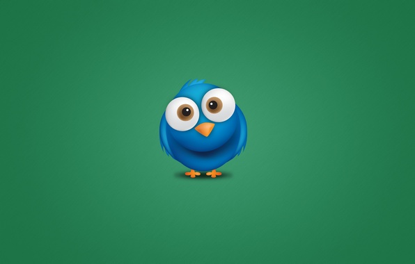 Picture blue, animal, bird, minimalism, eyed, Twitter, bird