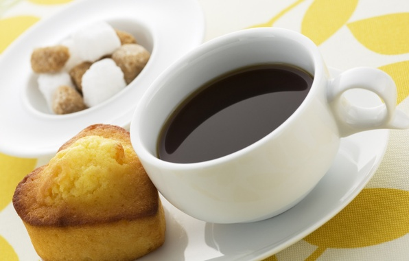 Picture background, tea, heart, coffee, food, Breakfast, cookies, mug, Cup, heart, tablecloth, sweet, napkin, cupcake