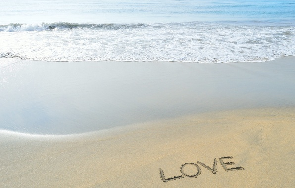 Picture sand, water, Beach, love