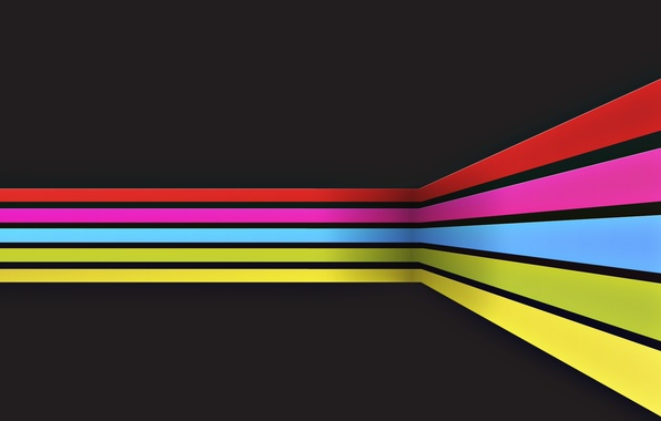 Picture abstraction, strip, paint, rainbow, colors, lines, rainbow, stripes, lines, abstraction, 2560x1600