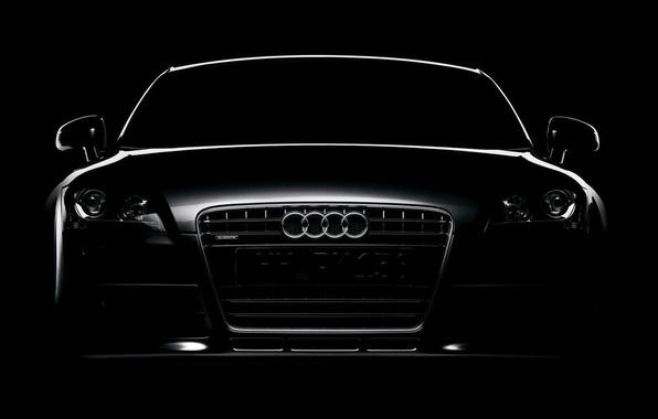 Picture Audi, black, contour