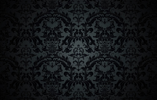 Wallpaper Retro Pattern Vector Dark Black Ornament