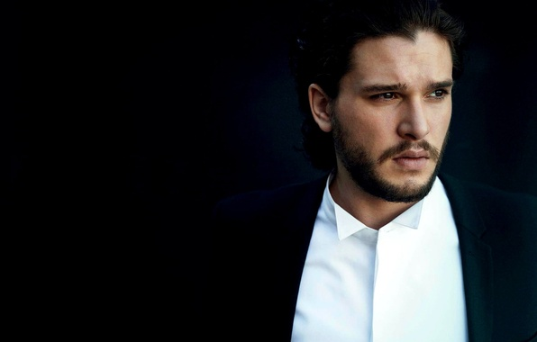Picture look, face, actor, male, shirt, Kit Harington, Kit Harington, Harington