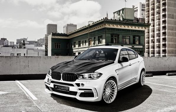 Picture white, BMW, BMW, Hamann, X6M, crossover, F16