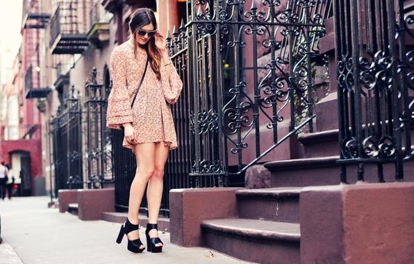 Photo Wallpaper Street Girl The City Style