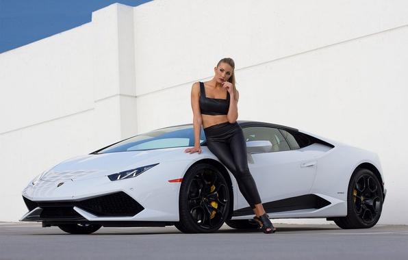 Lamborghini with girls wallpaper