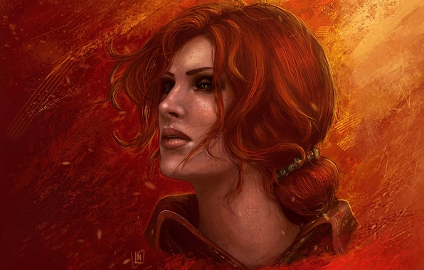Picture red, The Witcher, The Witcher, the enchantress, Triss Merigold, Triss Merigold, witchess, The Witcher