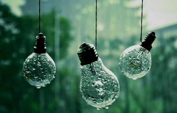 Picture drops, macro, photo, background, rain, Wallpaper, rope, light bulb, different