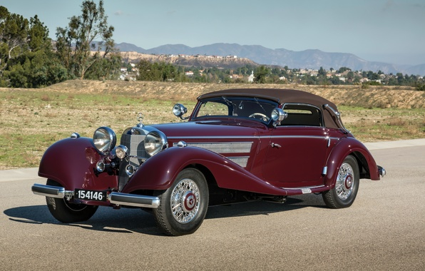 Picture Mercedes-Benz, Mercedes, convertible, the front, 540K, 1937, Cabriolet A
