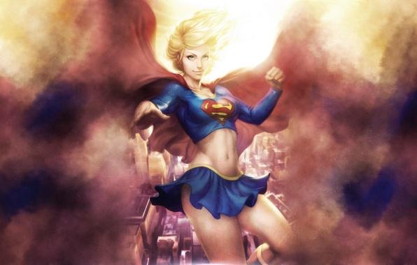 Picture art, dc universe, DC Comics, Supergirl, Kara Zor-El