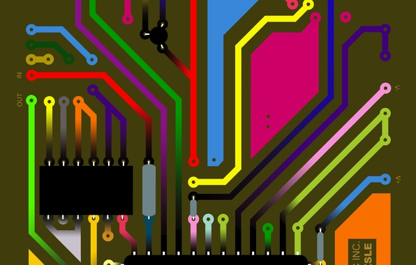 Picture background, fee, track, chain, equipment, electronic, microchip