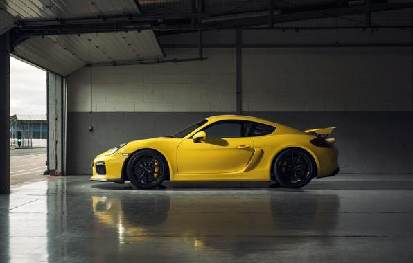 Picture yellow, Porsche, Cayman, Porsche, GT4, Caiman