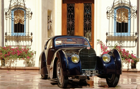Picture Bugatti, car, cars, Coupe, classic, 1931, Dubos, Type 51