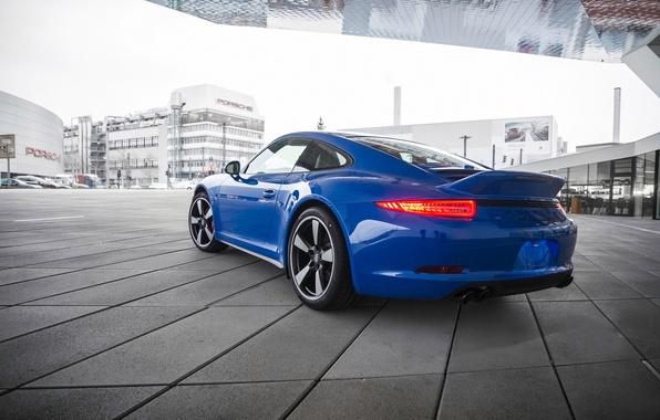 Picture blue, 911, Porsche, Porsche, rear view, GTS, Club Coupe