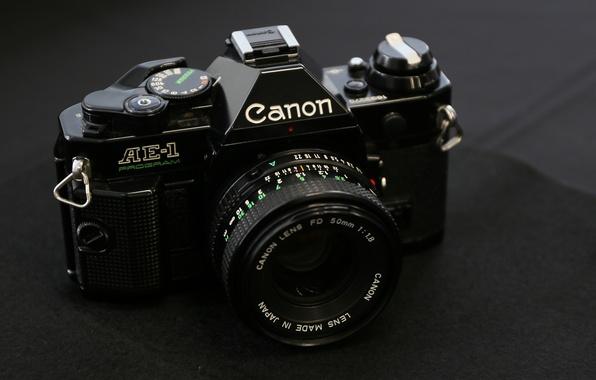 Picture macro, camera, Canon, AE-1