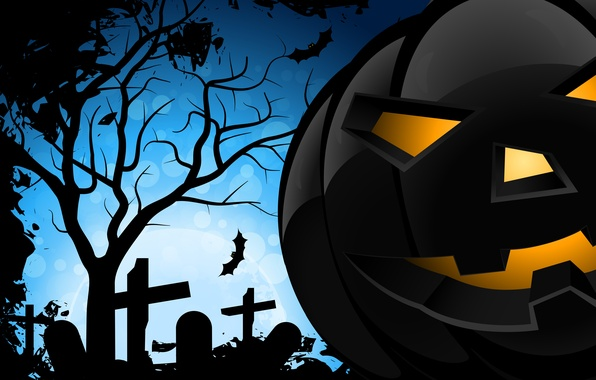Picture Halloween, halloween, terrible, bats, creepy, creepy, scary, evil pumpkin, bats, evil pumpkins