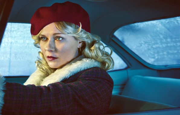 Picture auto, girl, Kirsten Dunst, frame, blonde, the series, salon, Thriller, coat, takes, crime, TV Series, …