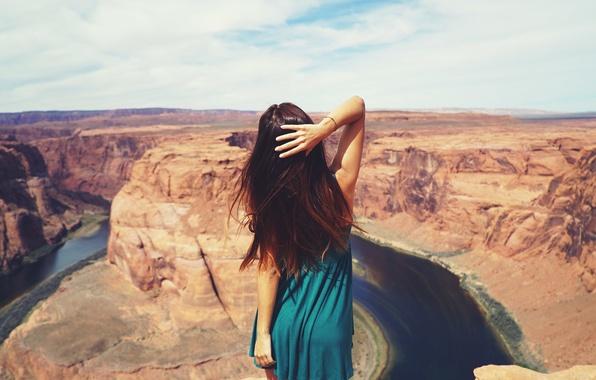 Wallpaper girl, model, photographer, canyon, girl