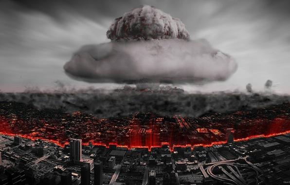 Picture the explosion, Apocalypse, atom