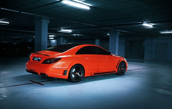 Picture car, tuning, Mercedes-Benz, car, AMG, tuning, orange, CLS 63, German Special Customs, GSC