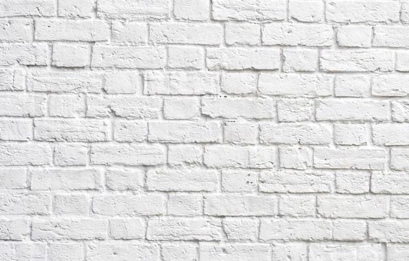 Photo Wallpaper Brick White Wall Of Bricks