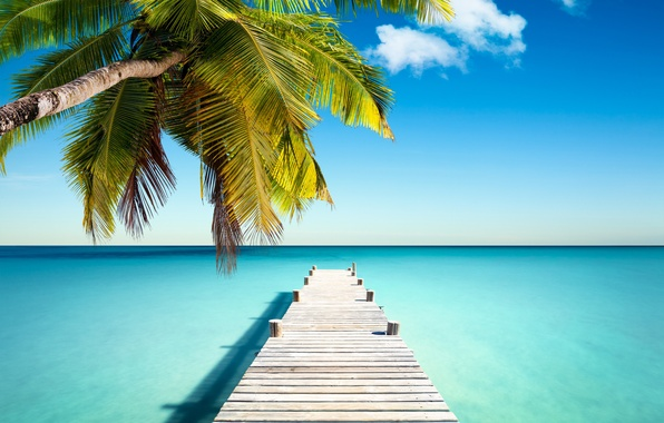 Picture sand, sea, beach, the sun, tropics, the ocean, shore, island, summer, sea, ocean, coast, blue, …