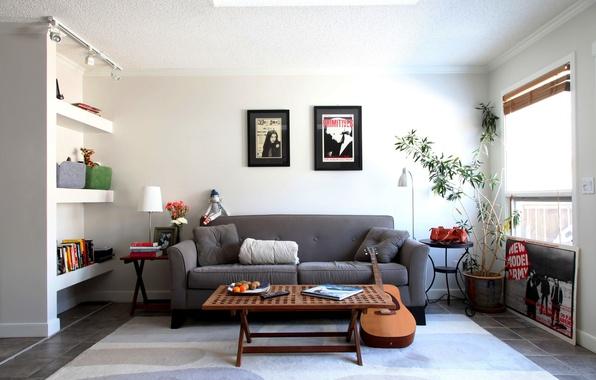Picture design, style, room, sofa, furniture, guitar, interior, pictures