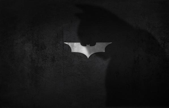 Picture shadow, logo, Batman, the dark knight