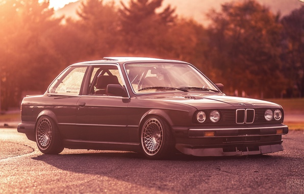 Picture BMW, white, E30, 3 Series, Evoked Photography