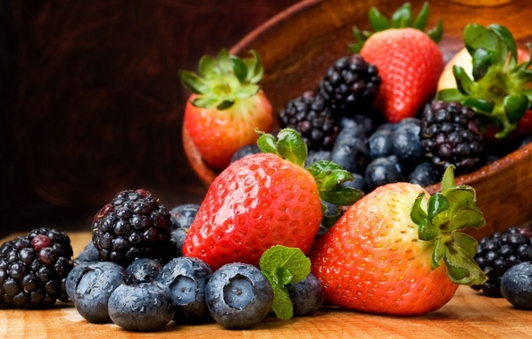 Picture berries, strawberry, fruit, still life