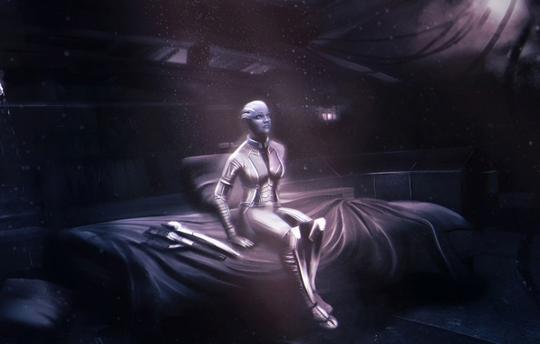 Picture Mass Effect, normandy, cabin, asari, Liara T Soni