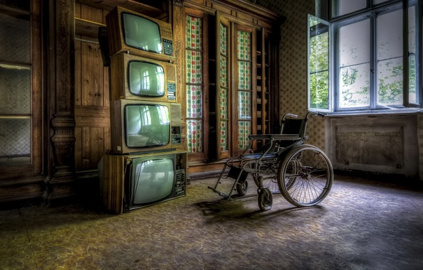 Picture room, stroller, TV