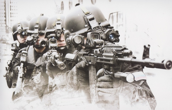 Picture machine, soldiers, helmet, Russia, fighters, special forces, FSB, group a
