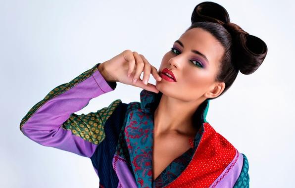 Picture retro, model, portrait, makeup, Katerina Tkacheva