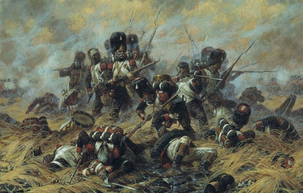 Picture picture, the battle, Averyanov, Waterloo