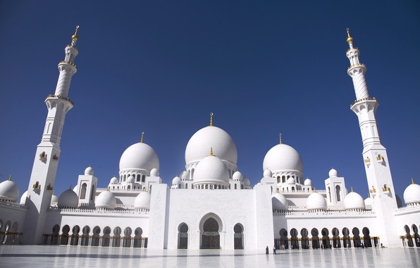 Picture area, arch, Grand mosque, Abu Dhabi, The Sheikh Zayed Grand mosque, Abu Dhabi
