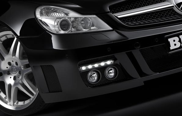 Picture black, Mercedes-Benz, headlight, BRABUS