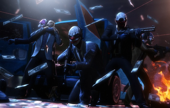 Picture mask, robbery, the robbers, Payday 2, Overkill Software, 505 Games