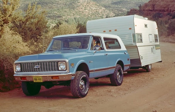 Picture background, Chevrolet, jeep, SUV, the front, 1972, caravan, Chevrolet.Blazer, Blazer