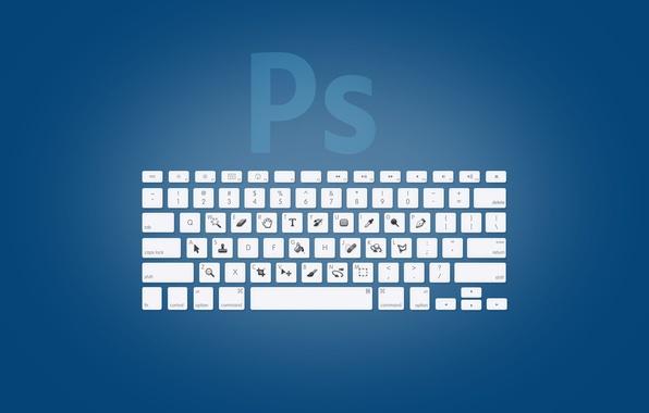 Picture keys, keyboard, photoshop, adobe