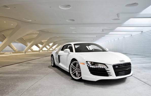 Picture Audi, White, Canopy