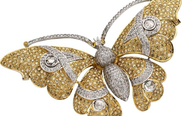 Picture butterfly, stone, diamonds, decoration, diamonds