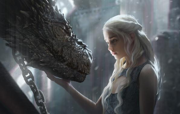 Wallpaper Girl Fantasy Art Dragon Game Of Thrones