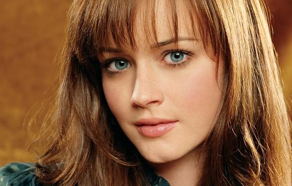 Wallpaper Girl, Light, Face, Actress, Brown Hair, Light Background, Celebrity, Alexis -8649