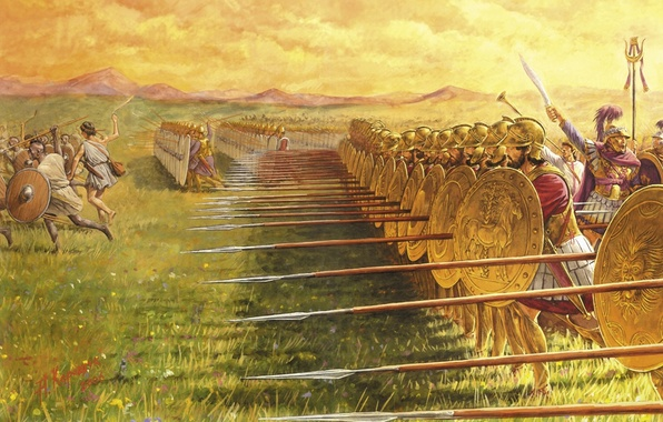 Picture war, figure, battle, infantry, Carthage