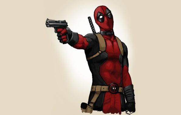 Picture gun, background, art, comics, art, Deadpool, Marvel, Deadpool