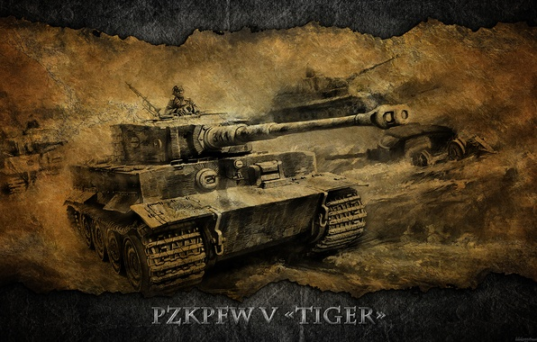 Picture tiger, Germany, art, tank, Tiger, tanks, WoT, World of Tanks, PzKpfw VI Tiger