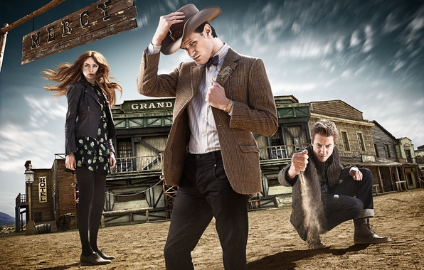 Picture hat, the series, Doctor Who, Western, Doctor Who, Sheriff, Matt Smith, Matt Smith, Amy Pond, …