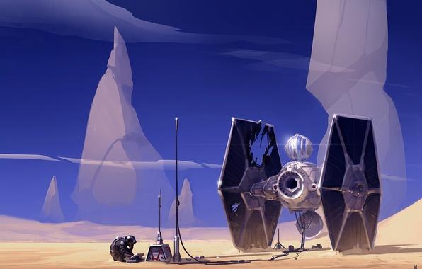 Picture Star Wars, soldiers, star wars, Art, spaceship