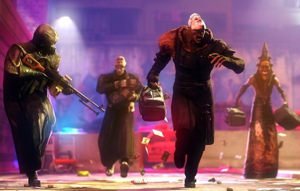 Picture police, money, mask, the Bank, robbery, bank, nemesis, videogames, pyramidhead, bogeyman, tyrant